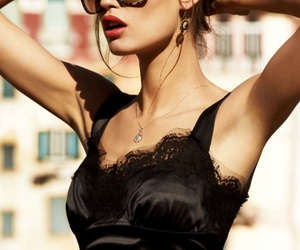 black, sunglasses, and beauty image