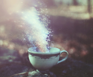 photography, cup, and magic image