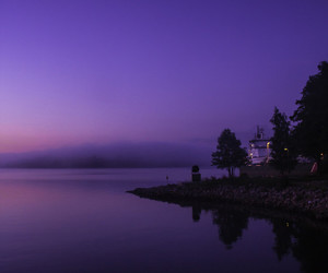 finland, river, and fog image