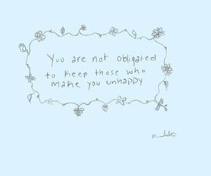 quote, flowers, and unhappy image