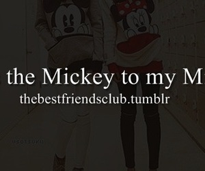best friends, friendship, and minnie mouse image