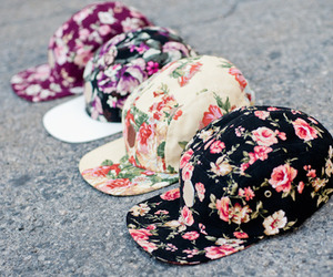 fashion, flowers, and cap image