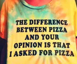 fashion, pizza, and opinion image