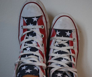 america, american flag, and shoes image