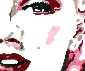 art, canvas, and marilyn image