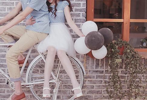 <3, bicycle, and casual image
