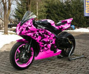 moto, pink, and love <3 image