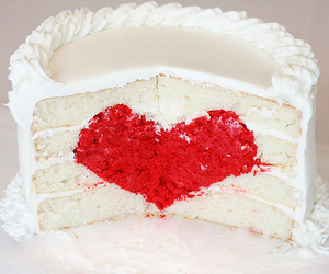 cake, heart, and love image