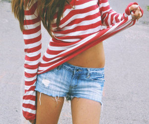 girl, skinny, and shorts image