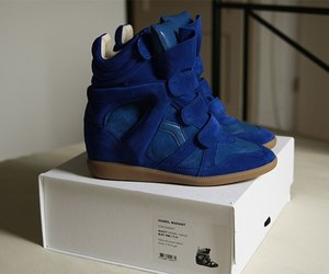shoes, blue, and Isabel marant image