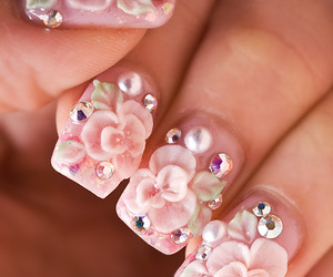 bling, pink, and flowers image