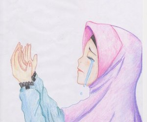 love, crying, and hijab image