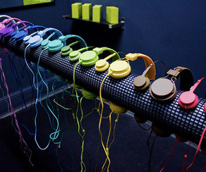 music, headphones, and colors image