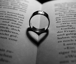 book, ring, and heart image