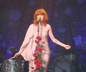 florence and the machine, flowers, and girl image