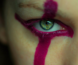 eye, passion, and purple image