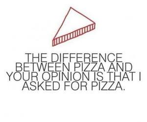 pizza, quote, and funny image