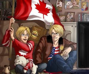 anime, aph, and canada image