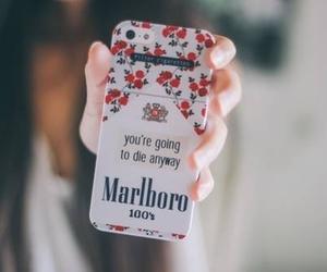 marlboro, iphone, and smoke image