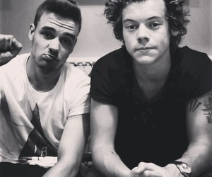 liam payne, one direction, and Harry Styles image
