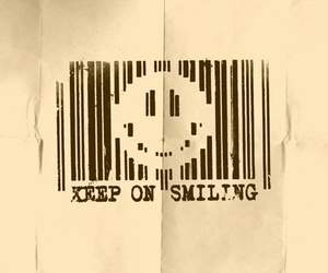 smile and bar code image