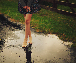 girl, photography, and rain image