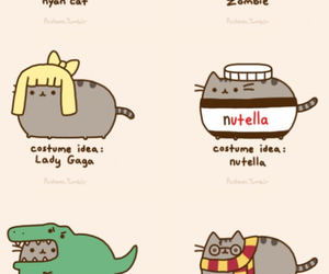 cat, pusheen, and nutella image