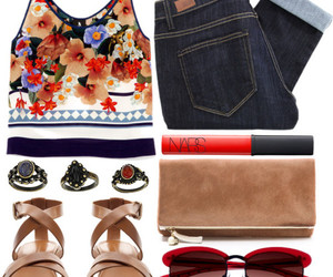 casual, outfit, and floral image