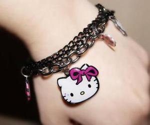 hello kitty, cute, and bracelet image