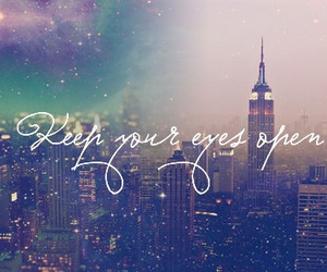 eyes, city, and quote image