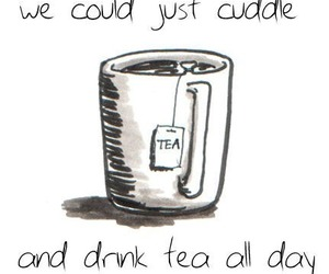 girl, lonely, and tea image
