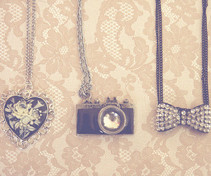 heart, camera, and necklace image