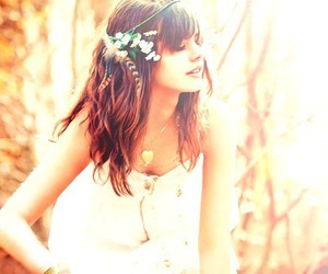 girl, flowers, and pretty image