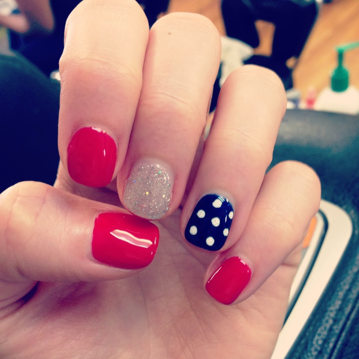 Blue and red nails best nail designs 2018 cutie nails red white blue on we  heart - Easy Red White And Blue Nail Designs Gallery - Nail Art And Nail
