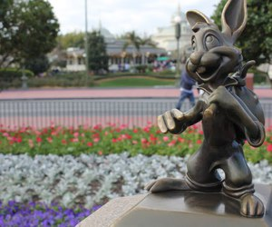 bunny, disney, and flowers image