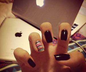 nails, black, and apple image