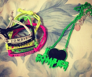 bracelets, necklace, and zombies image