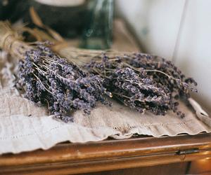 flowers, vintage, and lavender image