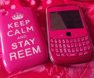 keep calm, phone, and pink image