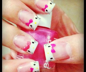 nails, cute, and hello kity image