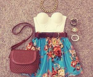 fashion, skirts, and floral print image