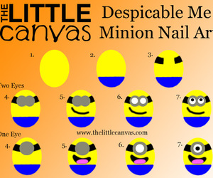 minions, nails, and cute image