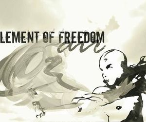 aang, avatar, and freedom image