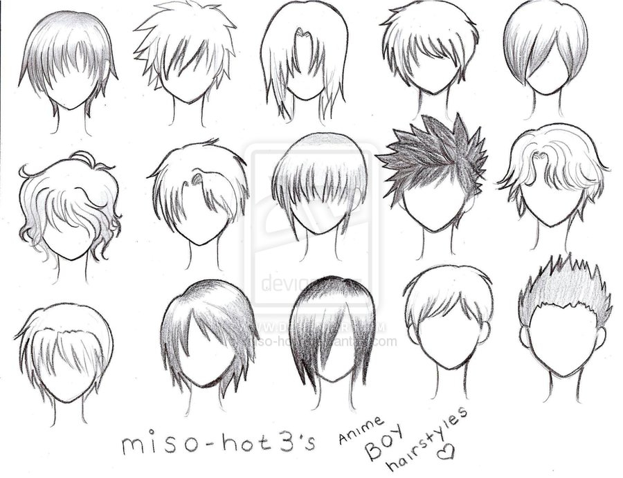 Anime Boy Hairstyles Shared By Karla On We Heart It