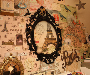 paris, vintage, and wall image
