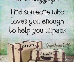 quotes, love, and baggage image