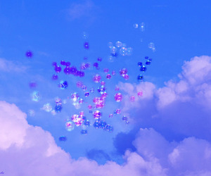 balloons, heaven, and sky image