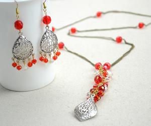 crystal beads, swarovski crystal, and earrings image