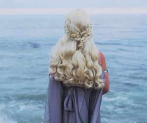 hairstyle, game of thrones, and mother of dragons image