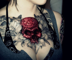 boobs, Tattoos, and tattoedgirl image